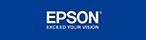 logo van Epson op een blauwe achtergrond